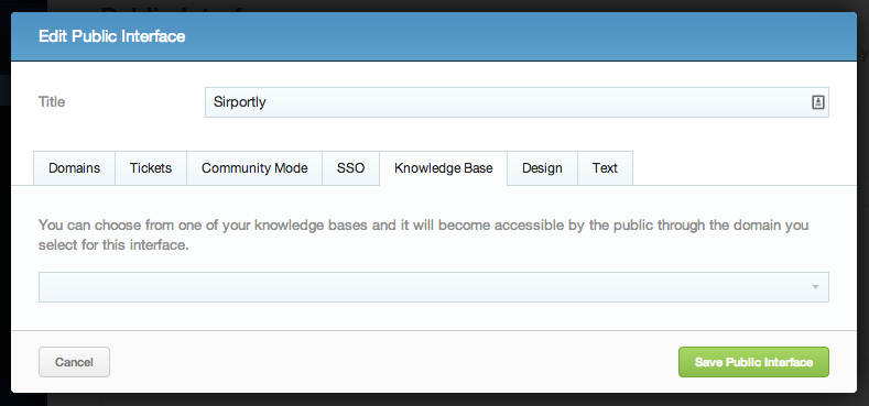 Public Interface Knowledge Base